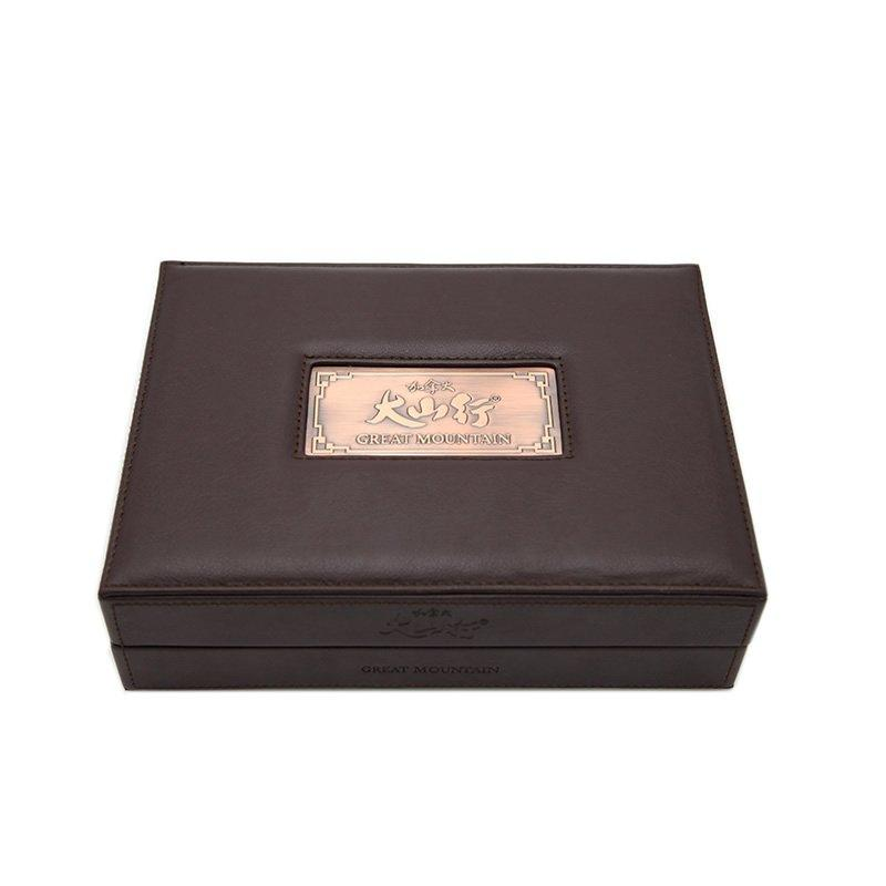 Leather Healthcare Packaging With Metal Logo