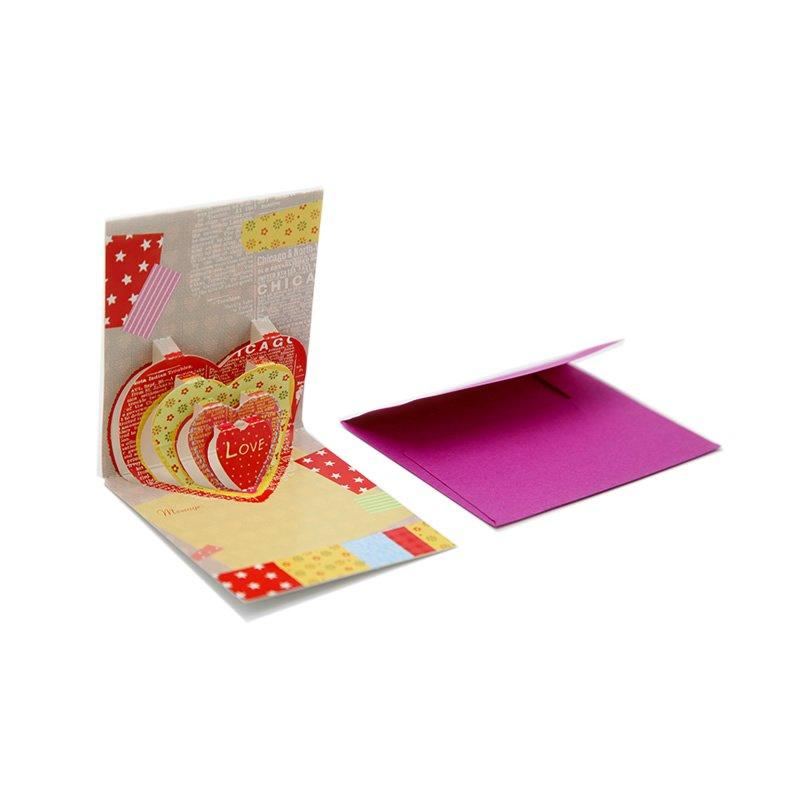 Colored Fancy Greeting Paper Cards for Holiday