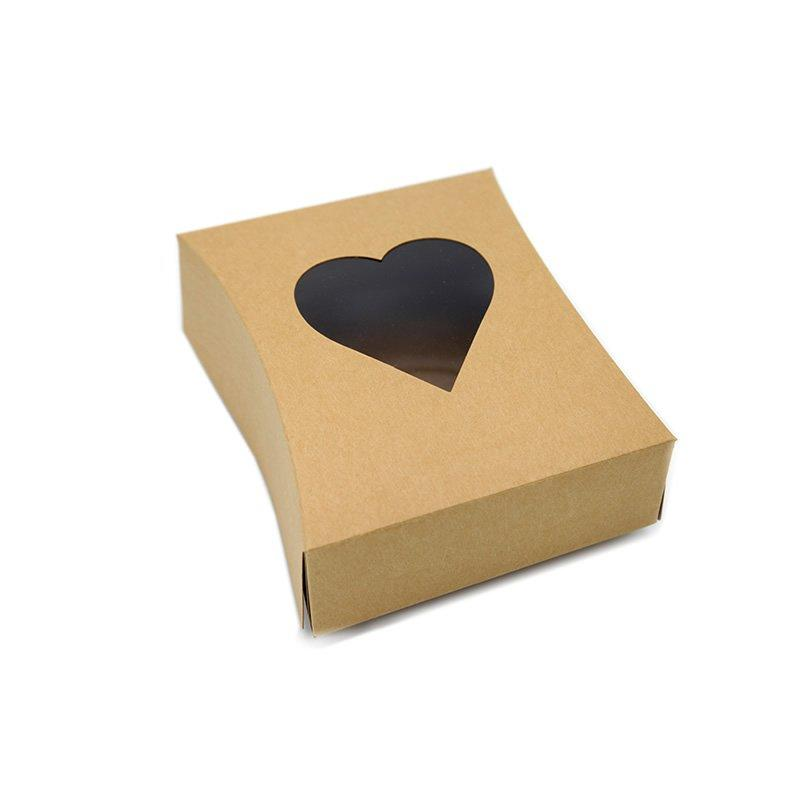 Personalized Folding Kraft Paper Gift Paper Boxes with Window